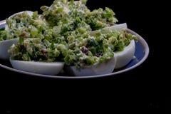Salade avec l'oeuf et la mayonnaise Photographie stock libre de droits