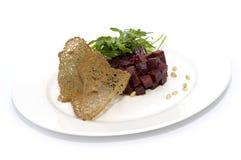 Salade avec la betterave Images libres de droits