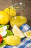Salade avec la rectification et l'oeuf de citron image stock