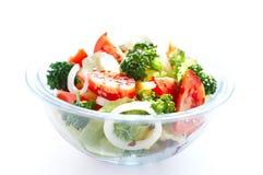 Salade avec le broccoli Photos libres de droits