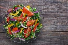 Salade avec le chou vert Photo stock