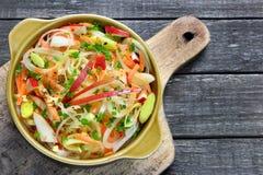Salade avec le poireau Photo libre de droits