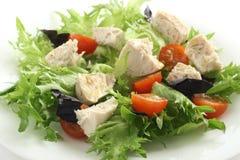 Salade avec le poulet bouilli Photo libre de droits