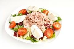 Salade avec le thon images stock