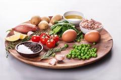 Salade avec le thon Images libres de droits