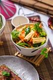 Salade avec les carottes et l'asperge Nourriture coréenne photo stock