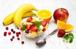 Salade avec les fruits frais Images libres de droits