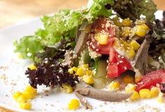 Salade avec les légumes et la viande Photos libres de droits