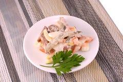 Salade avec les légumes frais photos stock