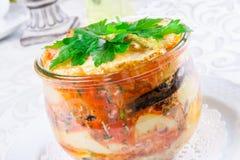 Salade avec les légumes rôtis Photos libres de droits