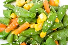 Salade avec un haricot vert Photographie stock libre de droits