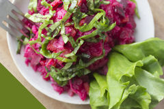 Salade, betterave Images stock