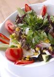 Salade bij de plaat Stock Afbeelding