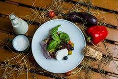 Salade blanche de fromage Photo libre de droits