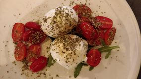 Salad caprese stock image