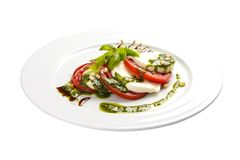 Salade ?Caprese ? Traditionele Italiaanse schotel stock foto's