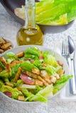 Salade ceasar faite maison fraîche Image libre de droits