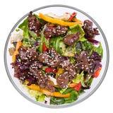 Salade chaude avec du foie de poulet Images libres de droits
