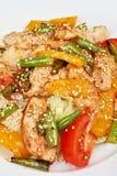 Salade chaude avec le poulet Photo stock