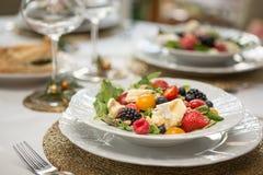 Salade colorée image libre de droits