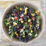 Salade colorée de chou frisé Image libre de droits