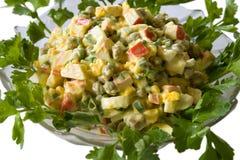 Salade - crabes et oeufs photographie stock libre de droits