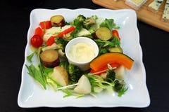 Salade cuite à la vapeur de légumes Images libres de droits