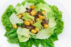 Salade délicieuse avec de la viande Photo libre de droits