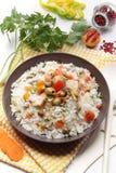 Salade d'élévation avec des légumes Images stock
