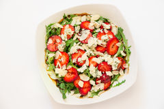Salade d'arugula de fraise de roquefort Photographie stock