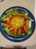 Salade d'hamburger photographie stock libre de droits