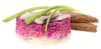 Salade d'harengs Photos libres de droits