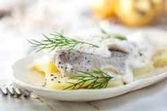 Salade d'harengs pour Noël Images libres de droits
