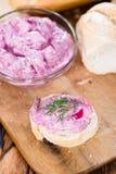 Salade d'harengs sur une baguette Photos libres de droits