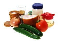 Salade d'ingrédients. Paraboloïde biélorusse. image stock
