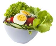 Salade d'oeufs sur le blanc Photo libre de droits