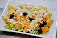 Salade d'orange et de morue Image stock