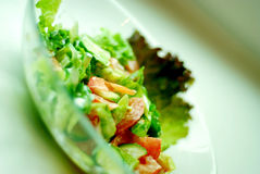 Salade d'une plaque photo stock