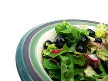 Salade dans la cuvette en céramique. Image libre de droits