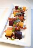 Salade de betterave photographie stock libre de droits