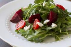 Salade de betterave d'Arugula Image libre de droits
