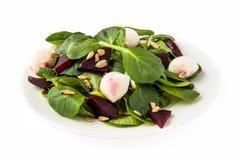 Salade de betteraves avec du mozzarella Photographie stock