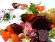 Salade de betteraves et de pomme de terre images libres de droits