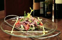 Salade de boeuf Photographie stock