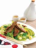 Salade de boeuf d'avocat avec le cilantro Image libre de droits