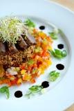Salade de boeuf et de couscous Images libres de droits