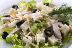 Salade de César de poulet Photographie stock libre de droits
