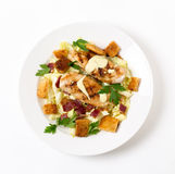 Salade de César de poulet d'en haut images libres de droits