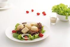 Salade 1 de caillette de haricots de poissons Images libres de droits
