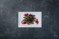 Salade de canard en sauce à la canneberge photos libres de droits